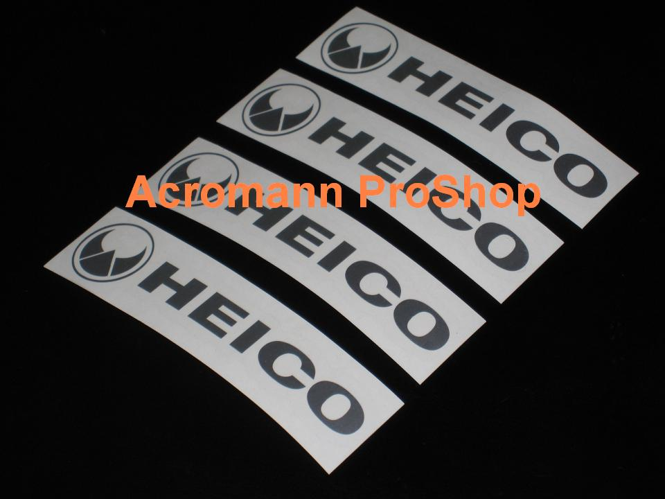 HEICO 4inch Alloy Wheel Decal x 4 pcs